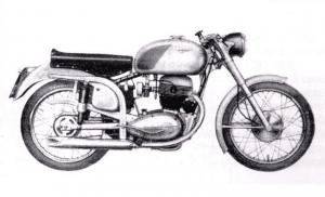Moto Alpino 175 4 tiempos de 1954.